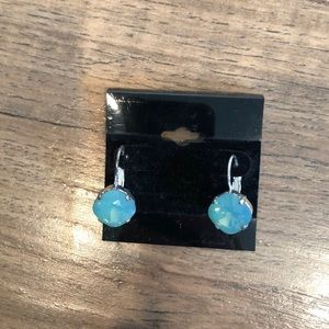 Jewelry - Mint green and silver earrings